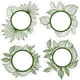 Vector set of autumn leafs frames Royalty Free Stock Photos