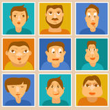 Vector set of avatars. Different characters royalty free illustration