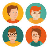 Vector set of avatars. In flat style royalty free illustration