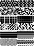Vector set of b&w backgrounds Stock Photos