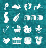 Vector Set: Baby Icons in symbols Stock Photo