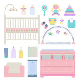 Vector set of baby objects Stock Photography