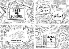 Vector set of Back to School backgrounds. Stock Images