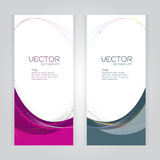 Vector set background Abstract header pink and gray wave whit vector Stock Photography