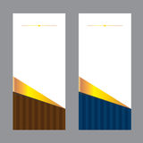 Vector set background card design business Curved linear color brown Royalty Free Stock Photography