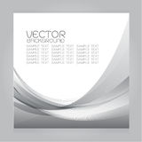 Vector set background gray curves line Gradation Royalty Free Stock Photos