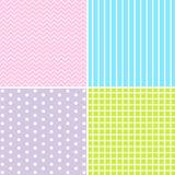 Vector set of 4 background patterns. Royalty Free Stock Photos