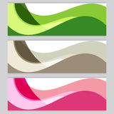 Vector set Background tree frame Green, brown, pink Royalty Free Stock Photos