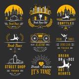 Vector Set of Badges, Logos and Sign Break Dance Stock Photo