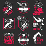 Vector Set of Badges, Logos and Sign Break Dance Stock Images