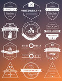 Vector set of badges Photography and Videography Stock Image