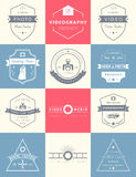 Vector set of badges Photography and Videography Stock Photography