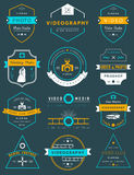Vector set of badges Photography and Videography Royalty Free Stock Photo