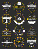 Vector set of badges Photography and Videography Stock Photos
