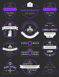 Vector set of badges Photography and Videography Stock Images