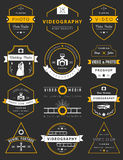 Vector set of badges Photography and Videography Royalty Free Stock Image