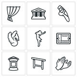 Vector Set of Ballet Icons. Stock Photography