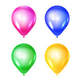 Vector set of ballons. Vector illustration of the set of shiny ballons.  on white. Celebratory elements. Used for party or birthday Royalty Free Stock Image