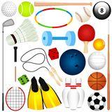A vector set of Balls, exercise equipment Royalty Free Stock Photos