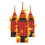 Vector set Bank Fire break corruption leak corrupt on white Stock Image