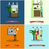 Vector set of banking concept design elements in flat style Stock Image