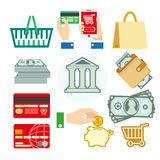 Vector set of banking icons Stock Photography
