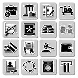 Vector set of banking icons Stock Photo