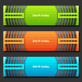 Vector set of Banner templates Royalty Free Stock Images