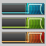 Vector set of Banner templates Stock Image