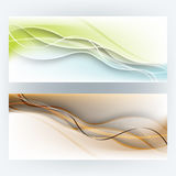 Vector set of banner wave elements background Royalty Free Stock Photo