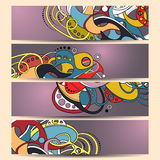 Vector Set of Banners with Abstract Element Stock Image