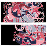 Vector Set of Banners with Abstract Element Royalty Free Stock Image