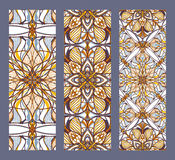 Vector set of banners or cards in vintage ornamental style. Decorative oriental ornaments Stock Images