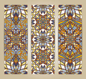 Vector set of banners or cards in vintage ornamental style Stock Photos