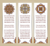 Vector set of banners or cards in vintage ornamental style. Decorative oriental ornaments Stock Photo