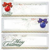 Vector set: banners for Christmas and New Year Stock Photos