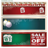 Vector set: banners for Christmas and New Year Royalty Free Stock Images