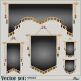 Vector set. banners of different shapes and sizes Royalty Free Stock Images