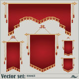 Vector set. banners of different shapes and sizes Royalty Free Stock Photography