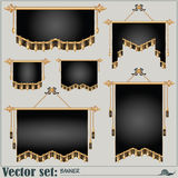 Vector set. banners of different shapes and sizes Stock Photo