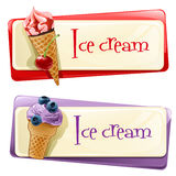Vector set of banners with ice cream Stock Photo