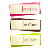 Vector set of banners with ice cream Royalty Free Stock Images