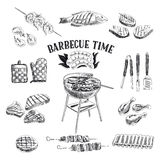 Vector set of barbecue and grill elements. Vector Stock Photography