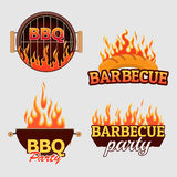 Vector set of barbecue logos and labels Stock Photo