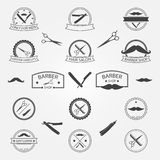 Vector set of barber shop logo Stock Images