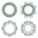 Vector Set of Baroque Lace Frame Royalty Free Stock Photos