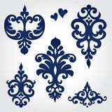 Vector set with baroque ornaments in Victorian style. Stock Photo