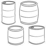 Vector set of barrel vector illustration