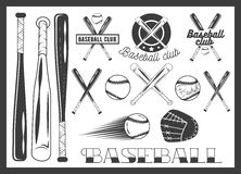 Vector set of baseball club emblem, label, badges Stock Image
