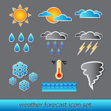Vector set of basic forecast icons Royalty Free Stock Image
